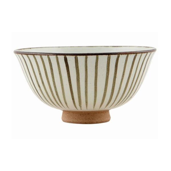 Ręcznie malowana miska Stripes Brown, 12x6 cm