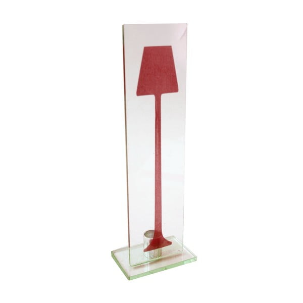 Szklany świecznik Single Design