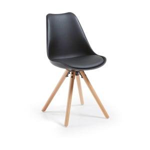 Krzesło La Forma Lars, czarne