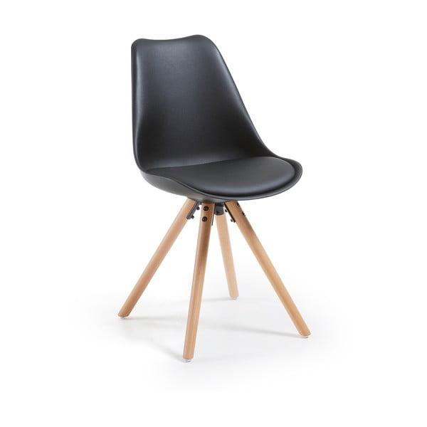 Czarne krzesło La Forma Lars