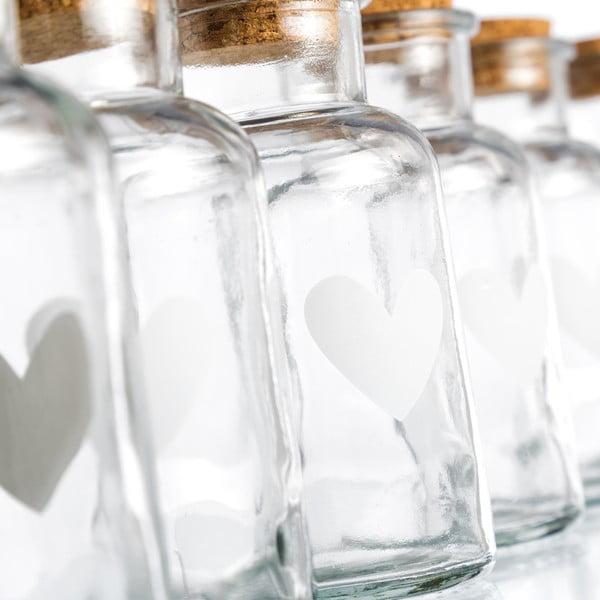 Zestaw 6 słoiczków Heart, 250 ml