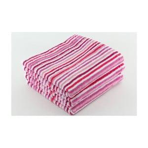 Zestaw 3 ręczników Collette Mauve, 50x100 cm
