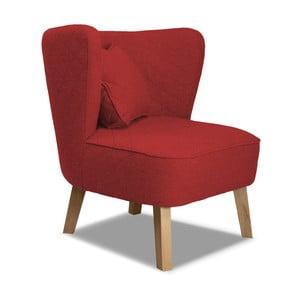Czerwony fotel Rodier Percale