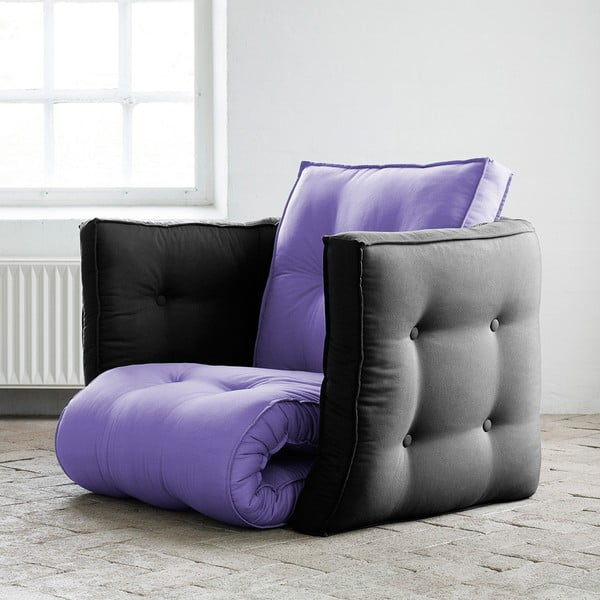 Fotel rokładany Karup Dice Violet/Gray