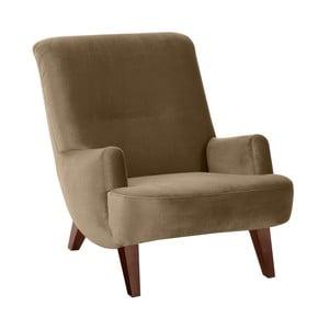 Jasnobrązowy fotel z brązowymi nogami Max Winzer Brandford Suede