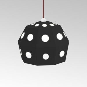 Kartonowa lampa Uno Fantasia B Black, z czerwonym kablem