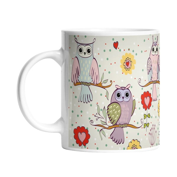 Kubek ceramiczny Owls in Love, 330 ml