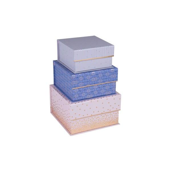 Zestaw 3 kwadratowych pudełek magnetycznych Tri-Coastal Design Sky and Glitters