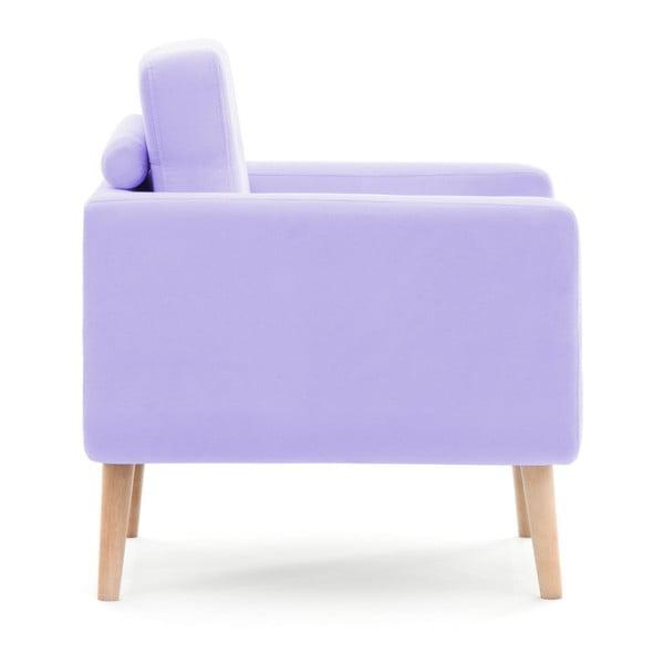Pastelowo-fioletowy fotel Vivonita Ina