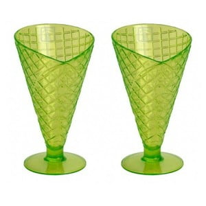 Zestaw 2 pucharków Sundae Lime