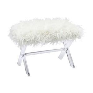 Biały stołek Kare Design Visible