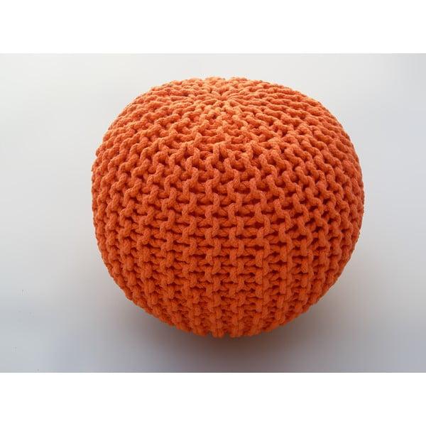 Pomarańczowy puf Oval