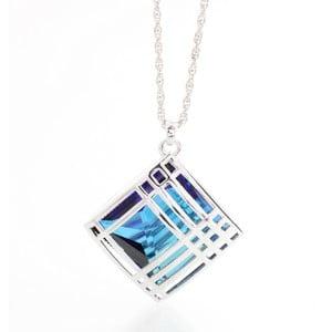 Naszyjnik z kryształami Swarovski Elements Laura BruniCage