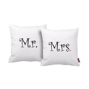 Zestaw 2 poduszek Mr&Mrs, 43x43 cm
