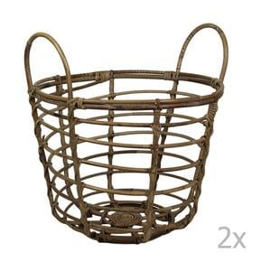 Zestaw 2 koszyków bambusowych HSM Collection Bambi