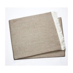 Szarobrązowy koc z dodatkiem bawełny Euromant Skyline, 140x180cm