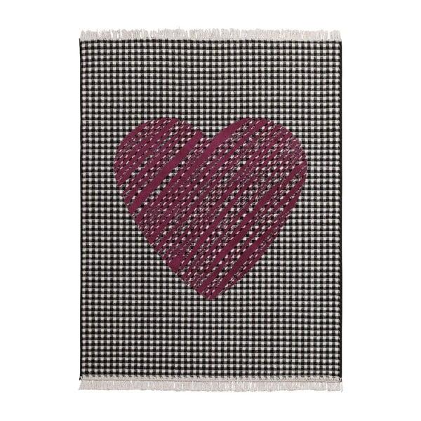 Dywan Fringe - ciemne serce, 140x200 cm