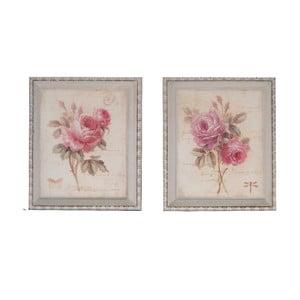 Zestaw 2 obrazów Antic Line Floral