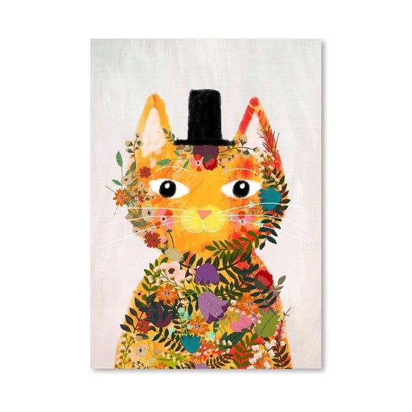 Plakat (projekt: Mia Charro) - Flower Cat