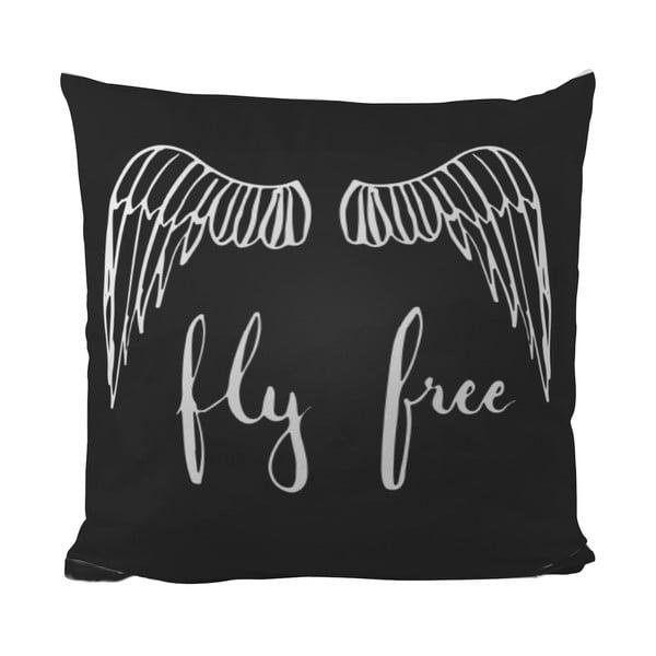 Poduszka Black Shake Fly Free, 40x40 cm