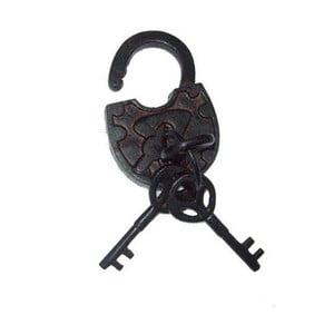Dekoracyjna kłódka metalowa Antic