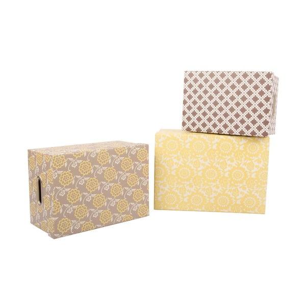 Zestaw 3 pudełek Yellow Dream