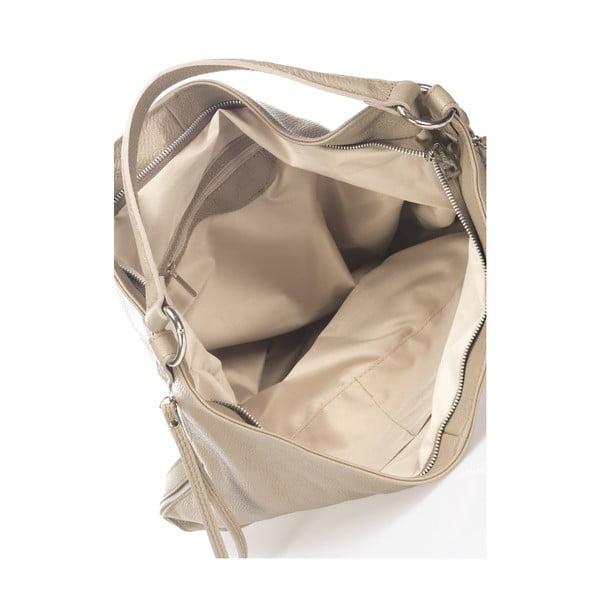 Beżowa torebka skórzana Krole Karla