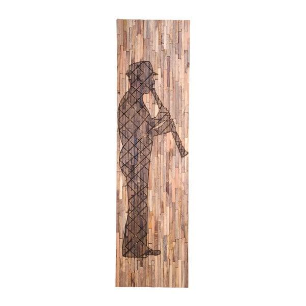 Dekoracja ścienna z drewna mango House Nordic Agra