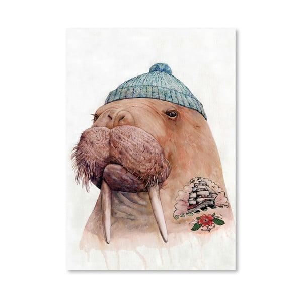 """Plakat """"Tattooed Walrus"""", 42x60 cm"""