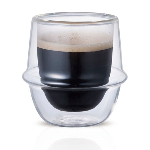 Filiżanka do espresso Kronos z podwójnym szkłem