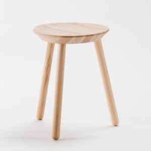 Naturalny stołek z litego drewna EMKO Naïve