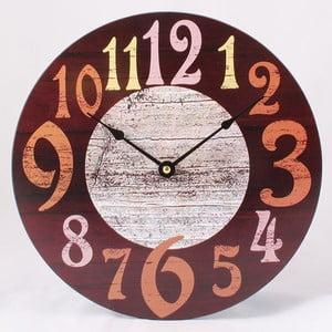 Drewniany zegar Numbers, 30x30 cm