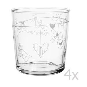 Zestaw 4 szklanek Bienvenue, 370 ml