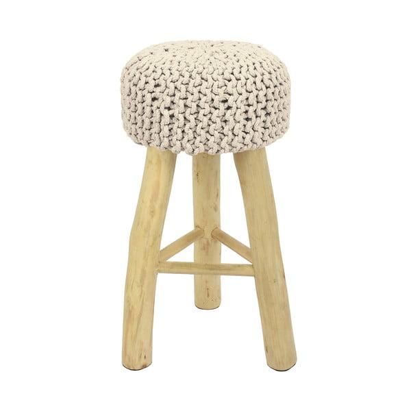 Białe krzesło barowe HF Living Nature