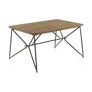 Stół z metalową konstrukcją i drewnianym blatem Geese, 150x90 cm