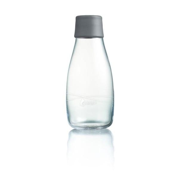 Szara butelka ze szkła ReTap z dożywotnią gwarancją, 300 ml