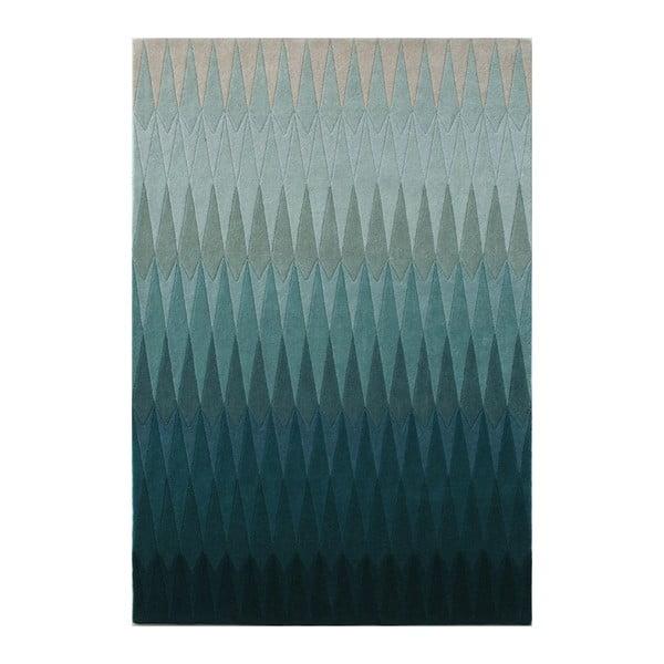 Wełniany dywan Acacia Petrol, 140x200 cm
