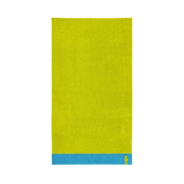 Zielony ręcznik Seahorse Cruise,100x180cm