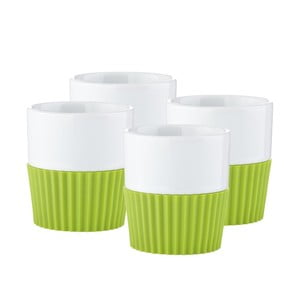 Komplet 4 filiżanek do espresso Confetti Lime