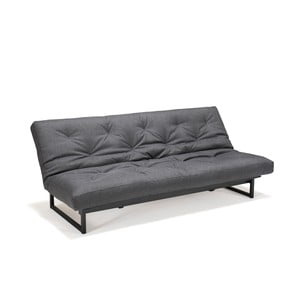 Grafitowo-szara sofa rozkładana Innovation Fraction