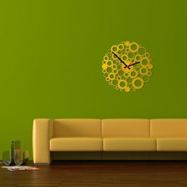 Zegar ścienny Yellow Bubble