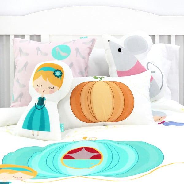 Pościel bawełniana dziecięca z poszewką na poduszkę Mr. Fox Pumpkin, 140x200 cm