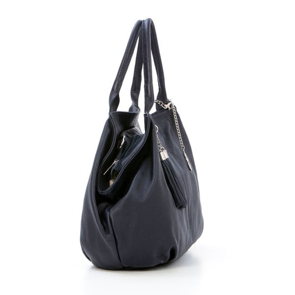 Skórzana torebka Pietro, granatowa