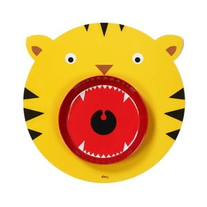 Mata stołowa i talerz Hungry Tiger