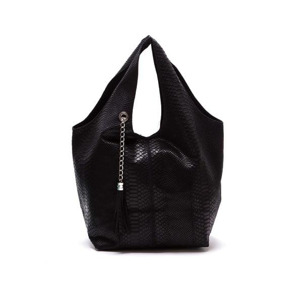 Czarna torebka skórzana Luka