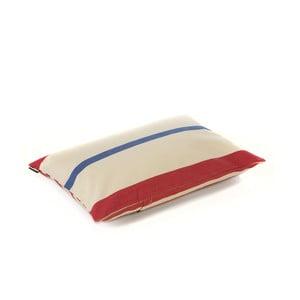 Poduszka Lona 60x40 cm, czerwono-niebieskie paski