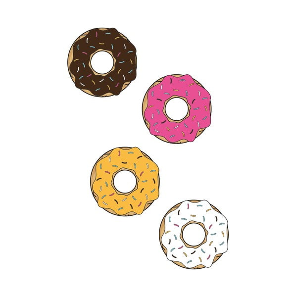 Naklejka ścienna Donuts