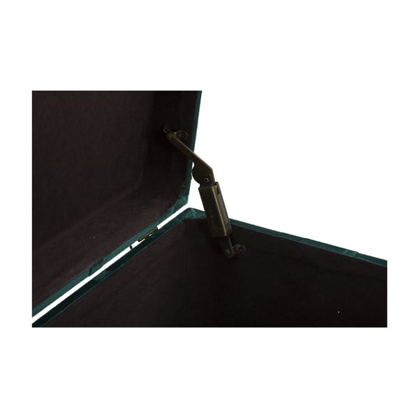 Komplet ławki i podnóżka ze schowkiem w ciemnozielonej barwie Mauro Ferretti Blam