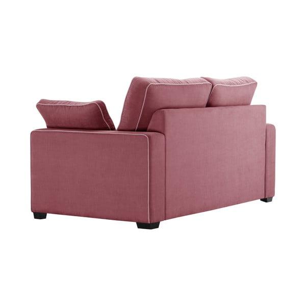Sofa 2-osobowa Jalouse Maison Serena, różowa