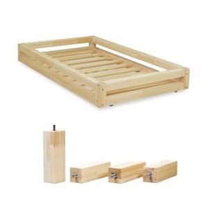 Komplet szuflady pod łóżko i 4 wydłużonych nóg Benlemi, łóżko 120x200 cm
